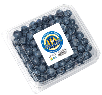 H&A Farms blueberries in clam shell packaging